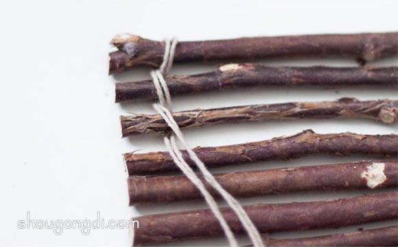 怎麼用樹枝制作杯墊 簡約樹枝杯墊的做法 -  www.shougongdi.com